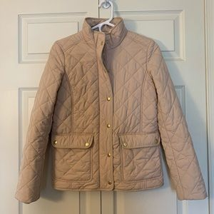 J Crew Creme Quilted Jacket size XS